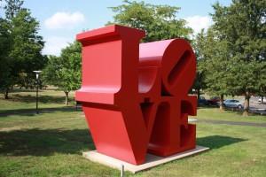 Love Sculpture at Ursinus College, Collegeville, PA