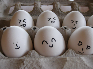 Egg Emoticons, photo by Kate Ter Haar, katerha