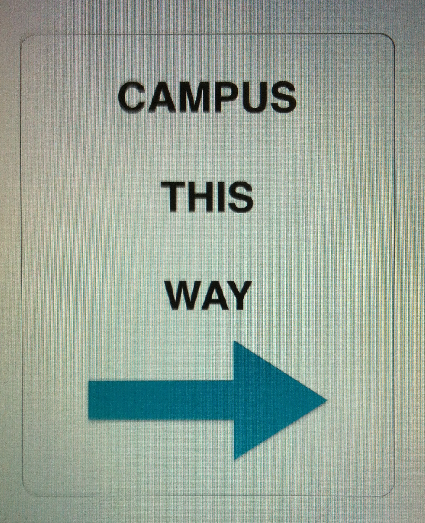 Campus this way. Pjhoto by Wendy David-Gaines