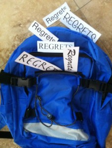 Carrying a backpack of regrets. Photo by Wendy David-Gaines