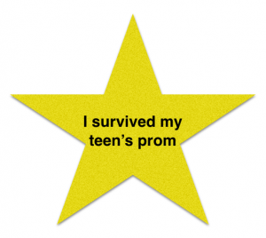 Gold star award for parents surviving their teen's prom. Photo by Wendy David-Gaines