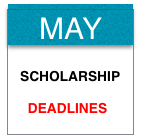 May scholarship deadlines. Photo by Wendy David-Gaines