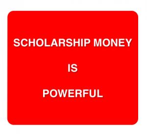 Scholarship money. Photo by Wendy David-Gaines