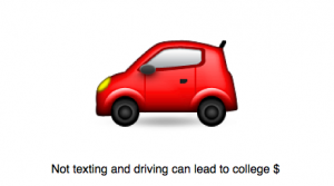 Not texting and driving can lead to a college scholarship. Photo by Wendy David-Gaines